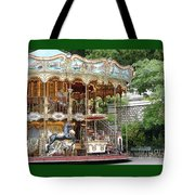 Carousel In Paris Tote Bag