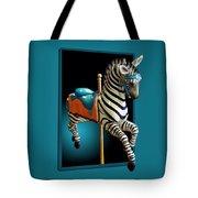 Carousel Zebra Tote Bag