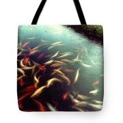 Carp Pond Colors Tote Bag