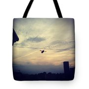 Carpenter Bees Abound On The Deck Tote Bag