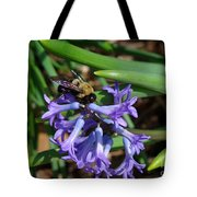 Carpenter On Hyacinth Tote Bag