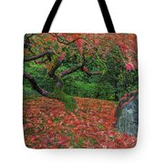 Carpet Of Fall Colors In Portland Japanese Garden Tote Bag