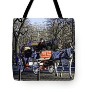 Carriage Driver - Central Park - Nyc Tote Bag