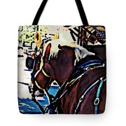 Carriage Horse Tote Bag