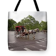 Carriage Ride In Central Park Tote Bag