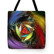 Carribean Nights-abstract Fractal Art Tote Bag by Karin Kuhlmann