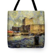 Starry Carrickfergus Castle Tote Bag
