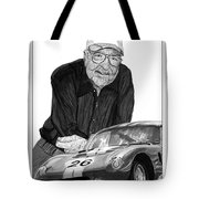 Carroll Shelby    Rest In Peace Tote Bag by Jack Pumphrey