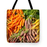 Carrots At The Market Tote Bag