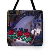 Carrsoul Horse With Roses Tote Bag