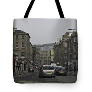 Cars And Buildings On The Streets Of Edinburgh Tote Bag