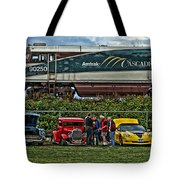 Cars And Trains Tote Bag