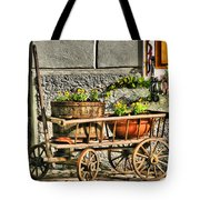 Cart And Flowers In Slovenia Tote Bag