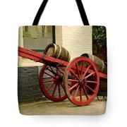 Cart Loaded With Wood Beer Barrels Tote Bag