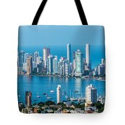 Cartagena Skyscapers Tote Bag