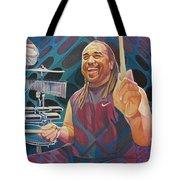 Carter Beauford Pop-op Series Tote Bag by Joshua Morton