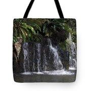 Cartoon - A Waterfall As Part Of An Exhibit Inside The Jurong Bird Park Tote Bag