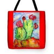 Cartoon Cactus Tote Bag