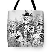 Cartoon Depicting The Impact Of Franklin D Roosevelt  Tote Bag