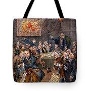 Cartoon: Politicians Tote Bag