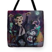 Cartoon Zombie Party Tote Bag