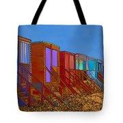 Cartoonised Beach Huts Tote Bag