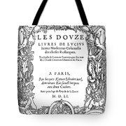 Cartouche, 1551 Tote Bag