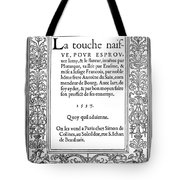 Cartouches, 1537 Tote Bag