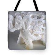 Carved Elephant Tote Bag
