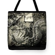 Carved Naga At Banteay Srey Tote Bag