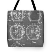 Carved Pumpkin Patent Tote Bag
