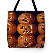 Carved Pumpkins  Tote Bag