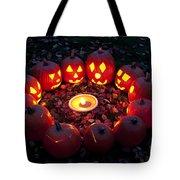 Carved Pumpkins With Pumpkin Pie Tote Bag