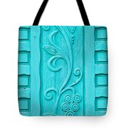 Carved Turquoise Door Tote Bag