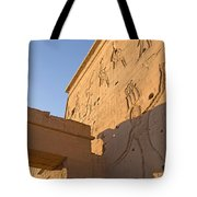 Carved Wall Of The Temple  Philae  Tote Bag