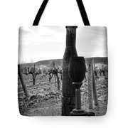 Carved Wine Bottle And Wine Glass Tote Bag