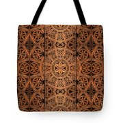 Carved Wooden Cabinet Symmetry Tote Bag