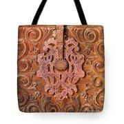 Carved Wooden Door Tote Bag