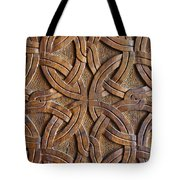 Carved Wooden Door In The Tsminda Sameba Cathedral Tbilisi Tote Bag