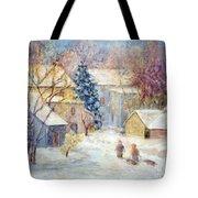 Carversville Snow Tote Bag