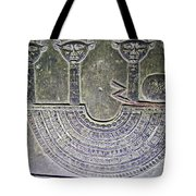 Carving Like Cleopatra's Necklace In A Crypt In Temple Of Hathor Near Dendera-egypt Tote Bag by Ruth Hager