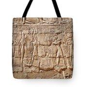 Carvings At The Temple Of Karnak Tote Bag