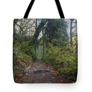 Cascade Forest Path Tote Bag