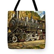 Cascade Mountain Train Tote Bag