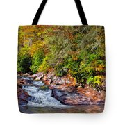 Cascade Of Water Tote Bag