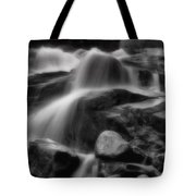 Cascades In Black And White Tote Bag