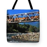 Cascades Rail Bridge Tote Bag