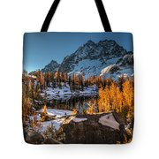 Cascades Ring Of Larches Tote Bag by Mike Reid