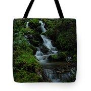 Cascading Brook In Mount Rainier National Park Tote Bag