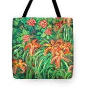 Cascading Day Lilies Tote Bag